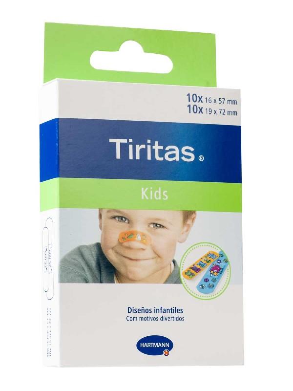 Tiritas kids apósito adhesivo 2 tamaños 20 unidades