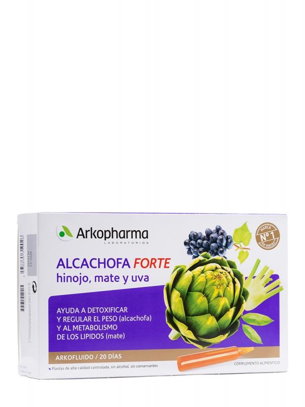 Arkofluido alcachofa forte 20 ampollas bebibles
