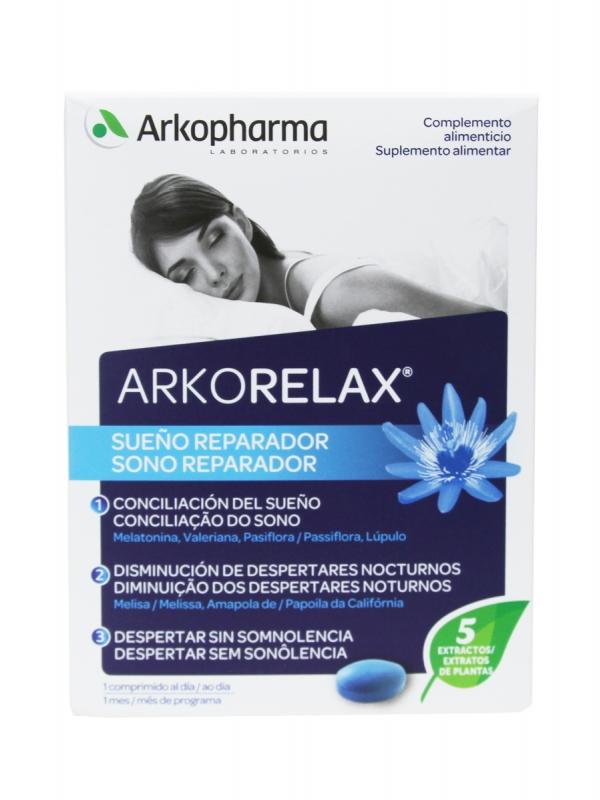 Arkorelax sueño reparador 30 comprimidos