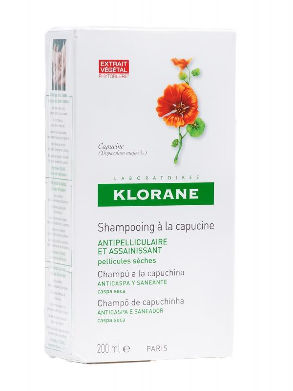 Klorane champú anticaspa con extracto de capuchina 200 ml
