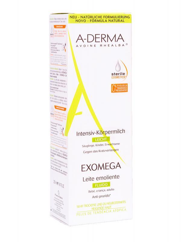 Leche fluida exomega a-derma 200ml