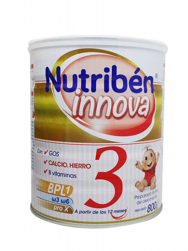 Nutribén innova 3 leche de crecimiento 800 gr