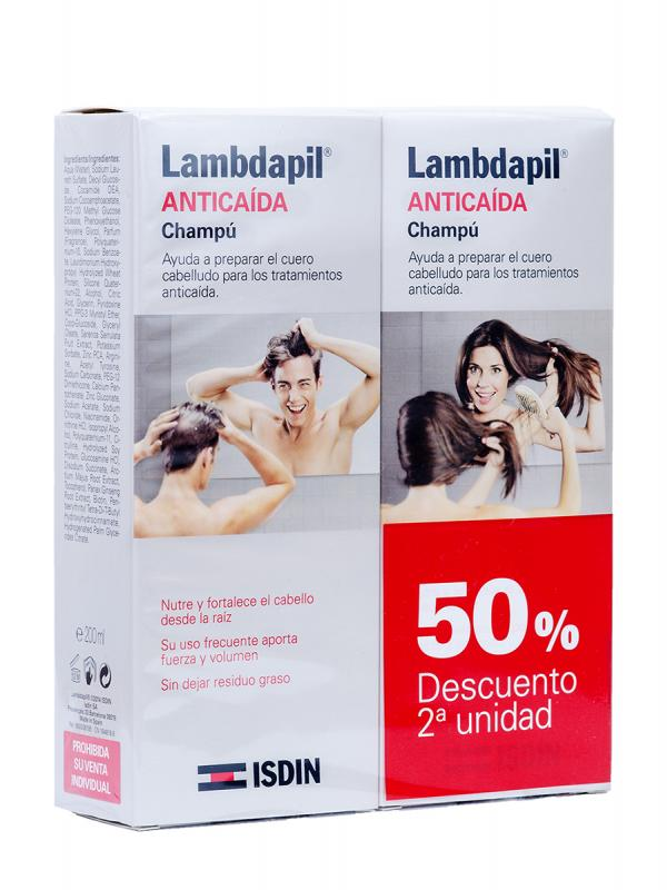 Pack champú anticaída lambdapil (50% dto 2ª und)
