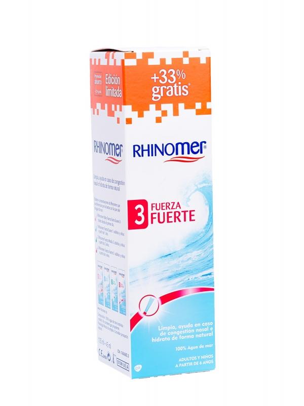 Rhinomer® fuerza 3 fuerte limpieza nasal 180 ml