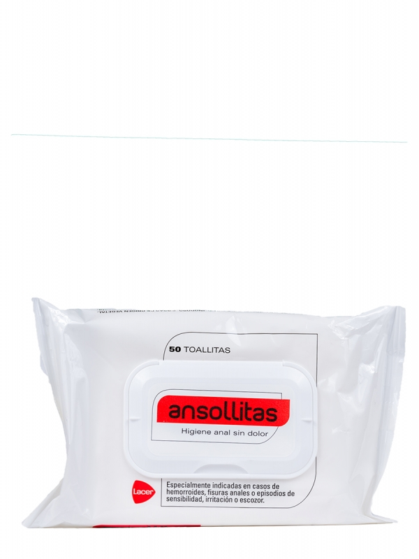 Toallitas higiene anal ansollitas 50 toallitas