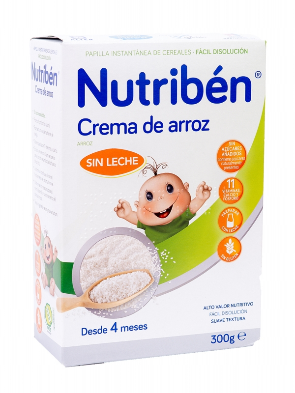 Nutriben crema de arroz sin gluten 300 g
