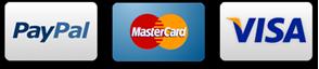 Métodos de pago 100% Seguros: Tarjeta crédito y débito. Paypal. Transferencia bancaria. Contrareembolso.